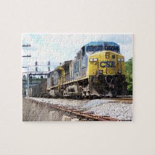 CSX Railroad AC4400CW #6 With a Coal Train Jigsaw Puzzle