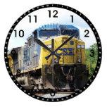Csx Railroad Ac4400cw #6 With A Coal Train Large Clock at Zazzle