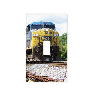 CSX Railroad AC4400CW #6 With a Coal Train Light Switch Cover