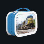 """CSX Railroad AC4400CW #6 With a Coal Train Lunch Box<br><div class=""""desc"""">From www.railphotoexpress.biz - The GE AC4400CW is a 4, 400 horsepower diesel-electric (AC) locomotive built by GE Transportation Systems between 1993 and 2004.</div>"""