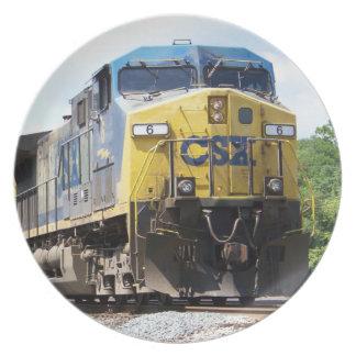 CSX Railroad AC4400CW #6 With a Coal Train Melamine Plate