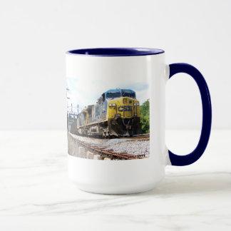 CSX Railroad AC4400CW #6 With a Coal Train Mug