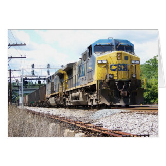 CSX Railroad AC4400CW #6 With a Coal Train Note Stationery Note Card