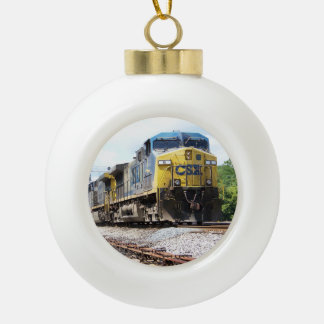 CSX Railroad AC4400CW #6 With a Coal Train Ornaments