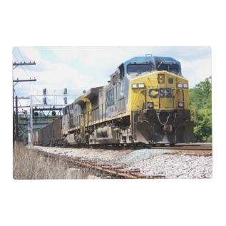 Csx Railroad Ac4400cw #6 With A Coal Train Placemat at Zazzle