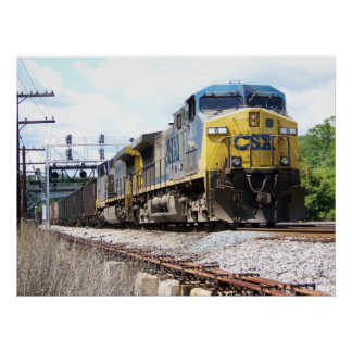 CSX Railroad AC4400CW #6 With a Coal Train Poster