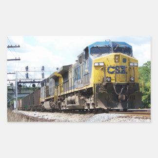 CSX Railroad AC4400CW #6 With a Coal Train Rectangular Sticker