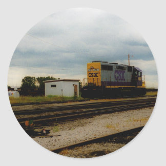 CSX Railroad Dieesel Yard Engine Toledo, OH Classic Round Sticker