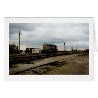 CSX Railroad Dieesel Yard Engine Toledo, OH Greeting Card
