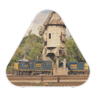 CSX Railroad Diesel Engines and Coal Tower Speaker
