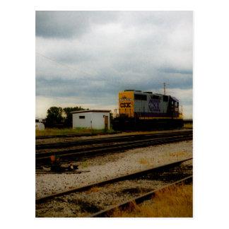 CSX Railroad el motor Toledo, OH de la yarda de Di Postales