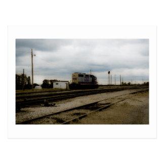CSX Railroad el motor Toledo, OH de la yarda de Di Postal