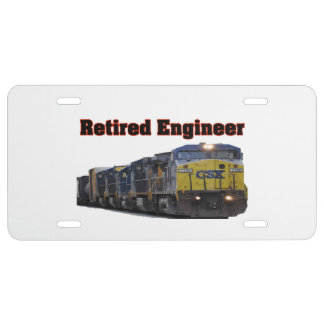 CSX Retired Engineer License Plate