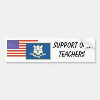 CT--Apoye a nuestros profesores Pegatina Para Auto