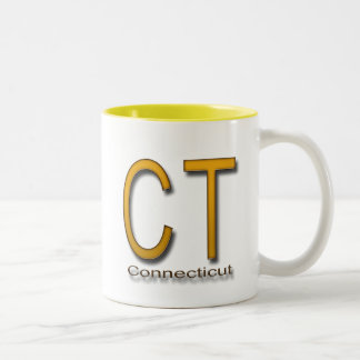 CT Conecticut gold Two-Tone Coffee Mug