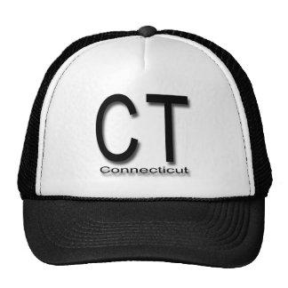 CT Connecticut black Trucker Hat