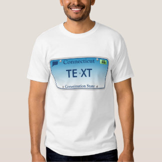 CT License Plate T-shirt