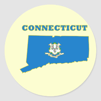 CT State Flag Classic Round Sticker