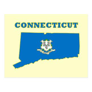 CT State Flag Postcard