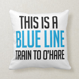 CTA Blue Line Train to O'Hare Pillow