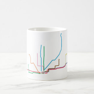 """CTA """"EL"""" Map Mug"""