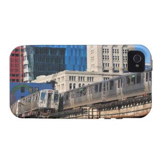 CTA rapid transit Orange Line and Green Line iPhone 4 Case