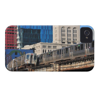 CTA rapid transit Orange Line and Green Line iPhone 4 Cases