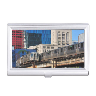CTA rapid transit Orange Line and Green Line Case For Business Cards