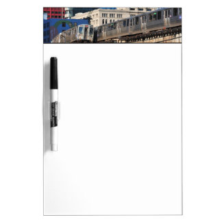 CTA rapid transit Orange Line and Green Line Dry Erase Board