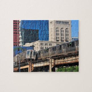 CTA rapid transit Orange Line and Green Line Jigsaw Puzzle