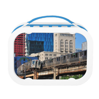 CTA rapid transit Orange Line and Green Line Lunch Box