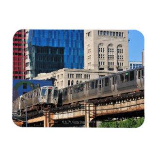 CTA rapid transit Orange Line and Green Line Magnet