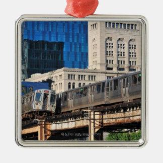 CTA rapid transit Orange Line and Green Line Metal Ornament
