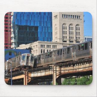CTA rapid transit Orange Line and Green Line Mouse Pad