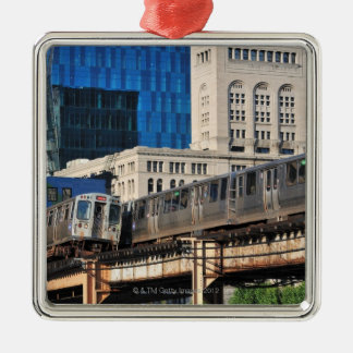 CTA rapid transit Orange Line and Green Line Christmas Ornaments