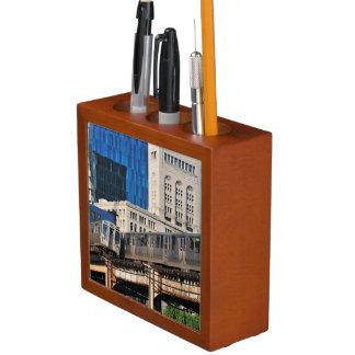CTA rapid transit Orange Line and Green Line Pencil Holder