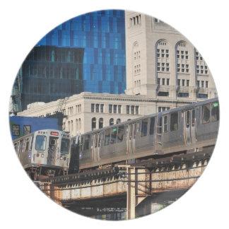 CTA rapid transit Orange Line and Green Line Plate