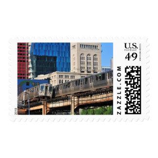 CTA rapid transit Orange Line and Green Line Postage