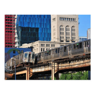 CTA rapid transit Orange Line and Green Line Postcard