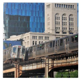 CTA rapid transit Orange Line and Green Line Tile