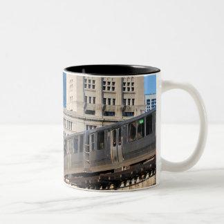 CTA rapid transit Orange Line and Green Line Two-Tone Coffee Mug