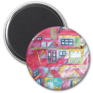 CTC International - Houses 2 Inch Round Magnet