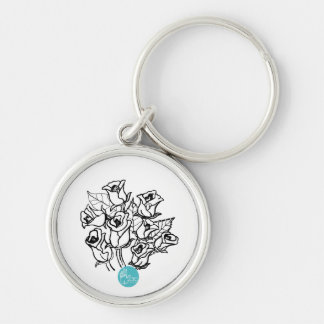 CTC International -  Roses 2 Silver-Colored Round Keychain