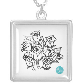 CTC International -  Roses 2 Square Pendant Necklace