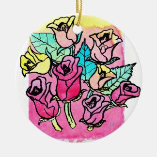 CTC International -  Roses 3 Ceramic Ornament