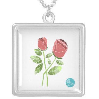 CTC International -  Roses Square Pendant Necklace
