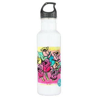 CTC International - Roses Stainless Steel Water Bottle