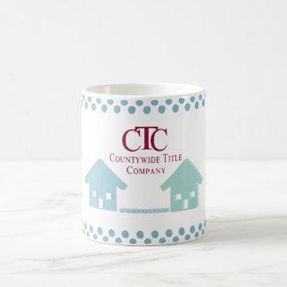 CTC mug with  blue houses