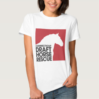 CTDraft Horse Rescue ladies babydoll t-shirt