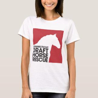 CTDraft Horse Rescue ladies babydoll t-shirt